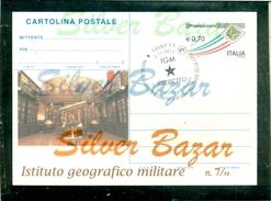 IGM-IST. GEOGRAFICO MILITARE-FIRENZE-CARTOLINE POSTALI-INTERI POSTALI-SOPRASTAMPA PRIVATA-ANNULLO SPECIALE-MARCOFILIA - Militaria