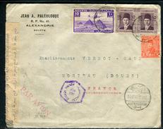 Egypte - Cover / Enveloppe De Alexandrie Pour La France En 1945 Avec Contrôle Postal , Affr. Plaisant  Ref F79 - Egypt