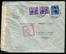 Egypte - Cover / Enveloppe De Alexandrie Pour La France En 1945 Avec Contrôle Postal , Affr. Plaisant  Ref F80 - Egypt