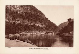 GORGES DU VERDON, GORGE DANS LES CALCAIRES, Animée, Planche Densité = 200g, Format 20 X 29 Cm, (V. Hourcq) - Géographie