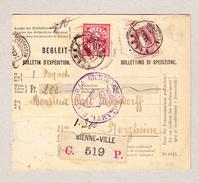 Schweiz Stehende 1Fr Und WZ 10Rp Bienne 20.12.1889 R-Begleit-Adresse - Lettres & Documents