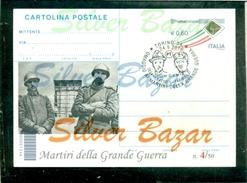 MARTIRI GRANDE GUERRA-C.BATTISTI-F.FILZI-TORINO-CARTOLINE POSTALI-SOPRASTAMPA PRIVATA-ANNULLO SPECIALE-MARCOFILIA - Guerra 1914-18