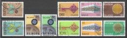 Iceland Island 1965-1970 - 5 Canceled Issues EUROPA CEPT - 1944-... Republik
