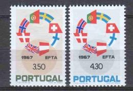 Portugal 1967 Mi 1044-1045 MNH EFTA EUROPA - Nuevos