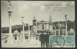 ESPOSIZIONE DI TORINO 1911 - Gran Fontana Monumentale Sulla Collina  -obe0949 - Ausstellungen