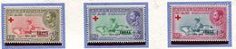 Ethiopie ** N° 349 à 351 Surchargés - Cent. De L'idée  Croix-Rouge - - Ethiopie