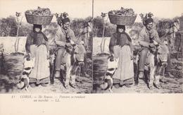 RARE LOT CPA CORSE 12 Vues Stéréoscopiques Série Complète Edition LL (Lévy L) Dont 2 Animées Ile Rousse - Sainte Lucie ! - France