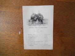 10 MAI 1891 MUSIQUE LIBRE DE SAINT-DIZIER - Programme