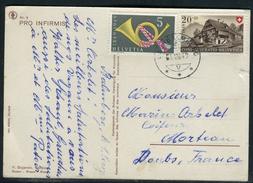 Suisse - Cover / Oblitération De Balemberg Sur Carte Postale Pour Morteau En 1949  Ref F91