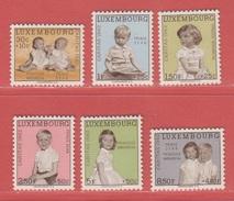 1962 ** (sans Charn., MNH, Postfrisch)  Yv  614/9Mi  660/5 - Luxembourg