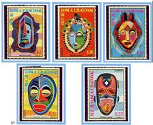 Guinée équatoriale ** N° 107 - Masques Africains - - Equatorial Guinea
