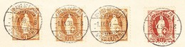 Schweiz Stehende 30Rp Und 3Fr (3) Chaux-de-Fonds 1.9.1898 Auf Postverwaltung-Bordereau - 1882-1906 Armoiries, Helvetia Debout & UPU