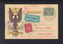 Dt. Reich Flugpost PK 1925 München Nach Volkach - Luftpost