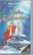 """VHS / K7 Vidéo  """"  MERLIN L'ENCHANTEUR """"  WALT DISNEY - Dessins Animés"""