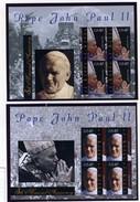 2011 - ST. KITTS -  Catg.. Mi. 1154/1155 KL -  NH - (I-SRA3207.23) -  POPE JOHN PAUL II 1920-2005 - St.Kitts E Nevis ( 1983-...)