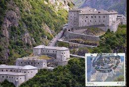18242 Italia, Maximum  2016 Aosta, The Forte Of Bard ,  Architecture - Cartas Máxima