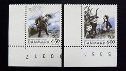 Dänemark 1366/7 **/mnh, NORDEN: Nordische Mythen,  Gott Heimdal, Fruchtbarkeitsgöttin Gefion - Nuovi