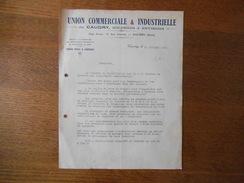 CAUDRY UNION COMMERCIALE & INDUSTRIELLE DE CAUDRY SOLESMES & ENVIRONS 17 RUE CENTRALE COURRIER DU 18/10/1932 - France