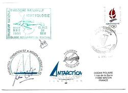 ENVELOPPE TIMBRES  DE FRANCE CACHEE MISSION AUSTRALE - Timbres