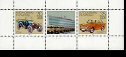 DDR Kleinbogen 2412 - 2413  Automobilbau Zwickau Postfrisch MNH *** Unten Nicht Durchgezähnt - DDR