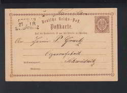 Dt. Reich GSK GSK Bahnpost Breslau - Deutschland