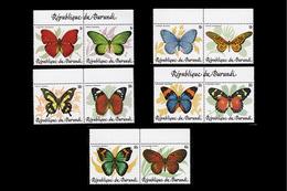 Burundi 0918/27**  Papillons D´Afrique - 1980-89: Neufs