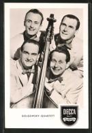 AK Golgowsky-Quartett, Portrait Mit Kontrabass, Decca - Musik Und Musikanten