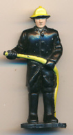 Figurine REMCO TOYS (1987) : Pompier De New-York,  Etats-Unis  (2 Scans) - Figurines