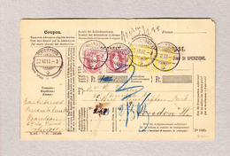 Schweiz Stehende Helvetia 1Fr (2) Und WZ 15Rp (2) Grandson 22.12.1898 Begleit-Adresse Nach London - 1882-1906 Armoiries, Helvetia Debout & UPU