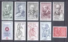 Czechoslowakia 1961 Various Complete Issues MNH - Nuevos