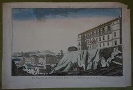 Vue D'optique XVIIIème - Espagne - Chateau Royal De Tolède Et La Grande Place Qui Est Au Devant - Estampes & Gravures