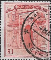 PAKISTAN 1961 Chota Sona Masjid (gateway) - 1r. - Red  FU - Pakistan