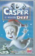 """VHS / K7 Vidéo    """"  CASPER LE NOUVEAU DEFI  """" - Dessins Animés"""