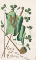 Saint Patrick's Day Gold Harp On Flag - Saint-Patrick's Day