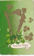 Saint Patrick's Day Gold Harp And Shamrocks 1912 - Saint-Patrick's Day