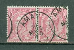 België/Belgique  46 2 X Amay - Nipa + 50 - 1884-1891 Léopold II