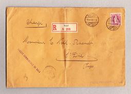 Schweiz Stehende Helvetia 1Fr Einzelfrankatur Gest. Basel 19.11.1900 R-Brief Nach St Dié Frankreich - 1882-1906 Wappen, Stehende Helvetia & UPU