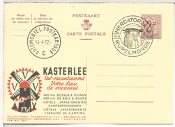 BELGICA ENTERO POSTAL PUBLIBEL WINDMILL MOLINOM VIENTO MAT MERCATORJAAR RUPELMONDE 1962
