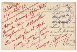 Marcophilie - Abbeville Somme 80 Cachet 28 Régiment D'infanterie - Postmark Collection (Covers)