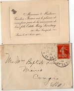 VP7944 - Faire - Part De Naissance De Edith Mary Sweeting GORDON JONES à PARIS - Naissance & Baptême