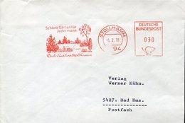 18281 Germany,red Meter/freistempel/ema/affrancatura Rossa/1970 Stollhamm, Garten,garden,circuled Cover