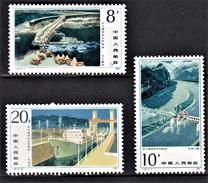 CHINE CHINA 1984         Projet De Barrage à Gezhou Sur Le YangTsé Kiang    (3-3) - 1949 - ... République Populaire
