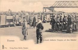 CHINE - Tien Tsin / Ankunft Indischer Truppen Auf Dem Bahnhof - Beau Cliché Animé - China
