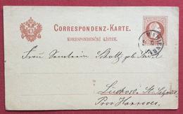REPUBBLICA CECA CORRESPONDENZ - KARTE CARTOLINA POSTALE AUSTRIA 2 Kr CON ANNULLO DI MARIEMBAD IN DATA 19/5/1881 - Repubblica Ceca