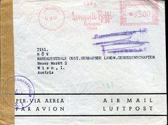 18283 Italia,red Meter/freistempel/ema/affrancatura Rossa/1952 Bologna Sementi Piante Boffi,circuled Cover (censura) !!!