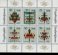 DDR Kleinbogen 3289 - 3294 Leuchterspinnen Erzgebirge MNH *** - DDR