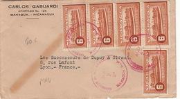 Lettre Managua Nicaragua 6x5 Centavos Pour La France Cover - Nicaragua