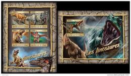 GUINEA 2016 - Dinosaurs. M/S + S/S. Official Issue - Prehistorisch
