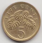@Y@   Singapore  5 Cents  1989   (4594) - Singapore