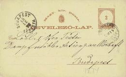 Ungarn / Hungary - Ganzsache Postkarte Echt Gelaufen / Postcard Used (L766)